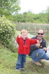 Where to go fishing with kids in and around Louisville, KY - fun for fall!