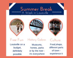 A summer break vacation in Louisville, KY