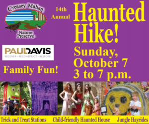 october 7 the haunted hike at creasey mahan nature preserve offers halloween