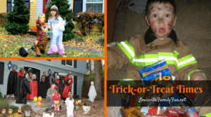 Trick-or-Treat times around Louisville