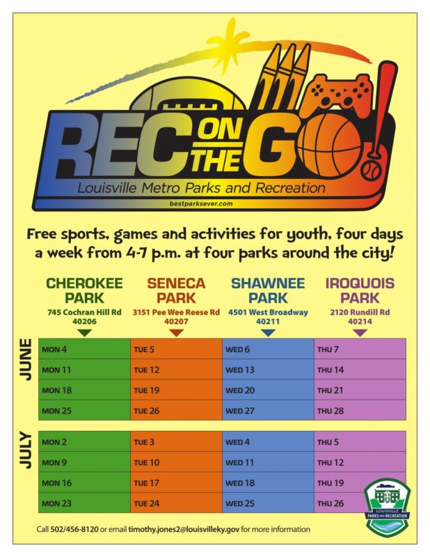 rec on the go Louisville parks