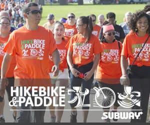 Hike bike and paddle