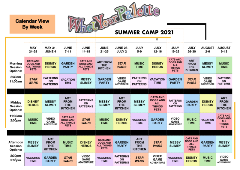 2021 whet your pal camp