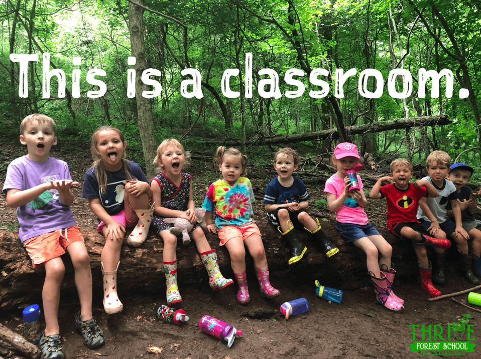 Thrive forest outdoor preschool goshen kentucky