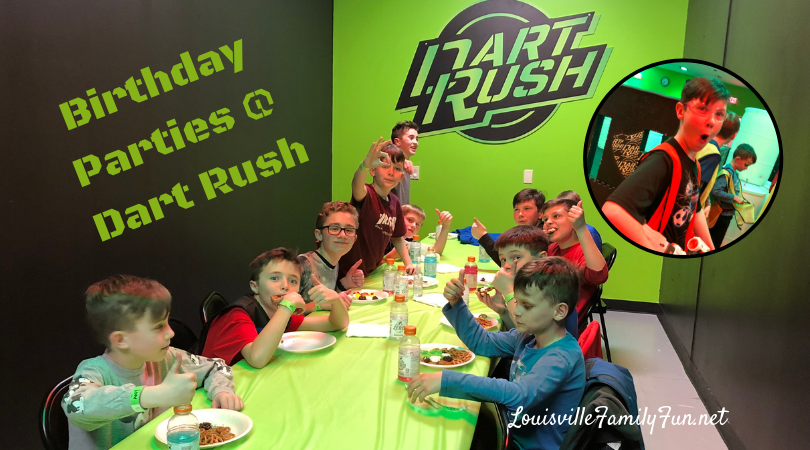 dart rush birthday parties