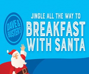 Dave and Busters Breakfast with Santa