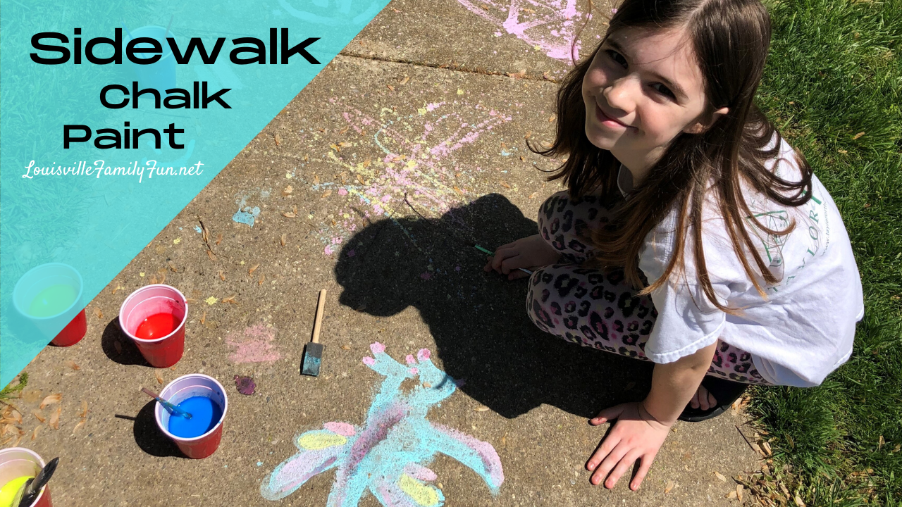 how to make sidewalk chalk paint