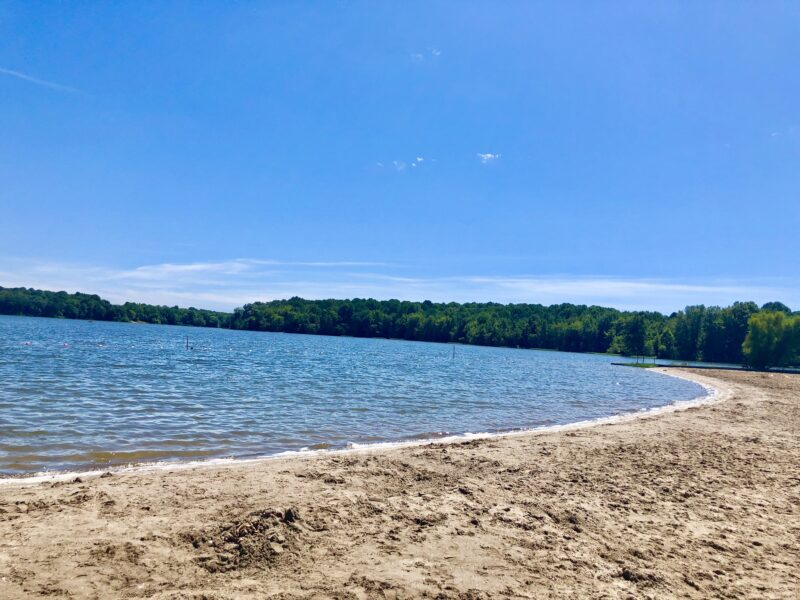 Hardy lake swimming beach