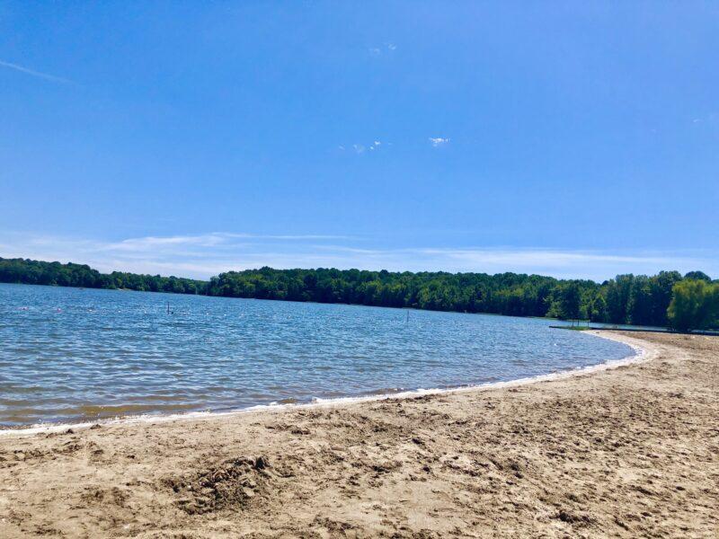 Hardy lake swimming beach