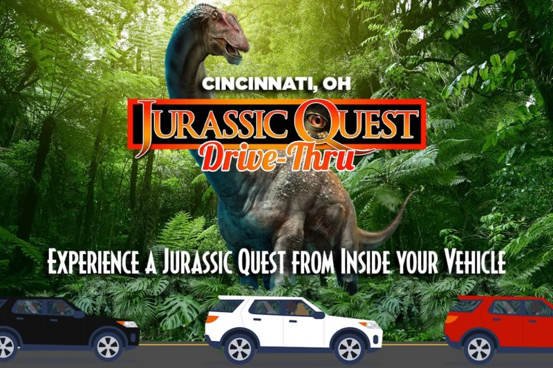 drive-thru dinosaur event in Cincinnati