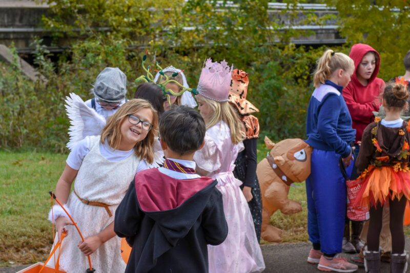 Halloween in brown park