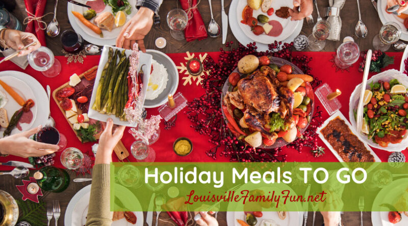 holiday meals to go